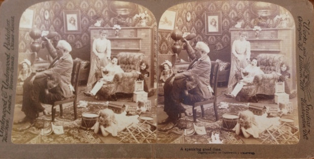 1903 SteroeScope image: A spanking good time