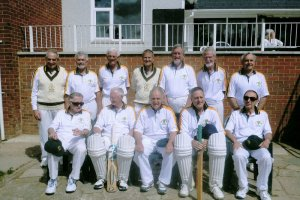 Over 70's Aust Cricket Team in whites