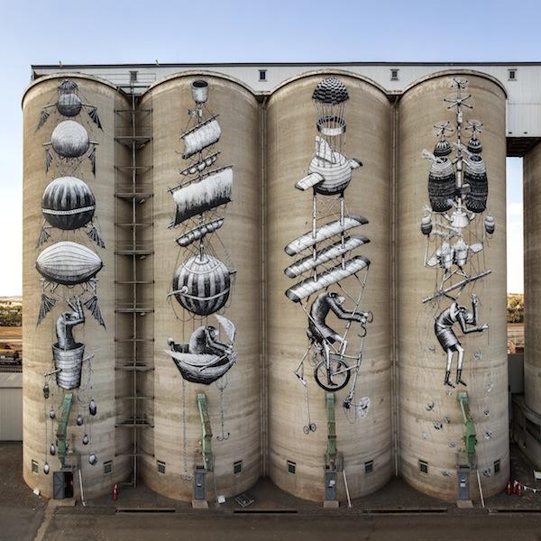 Phlegm, CBH Avon grain silos.