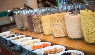 various-breakfast-cereals-line-buffet-hotel-food-63607562