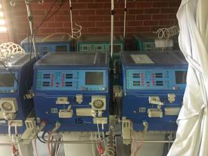 Dialysis machines in storage